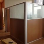 buzlu ofis bölme 150x150 Kısa Seperatör Bölme Duvar