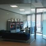 şeffaf camlı ofis bölme duvar